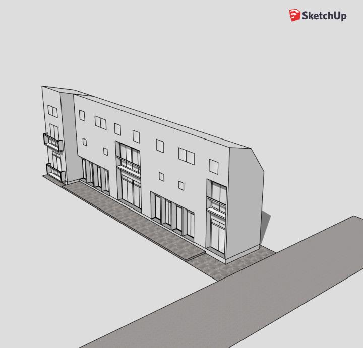 Sketchup freeで奥さまの建築お手伝い