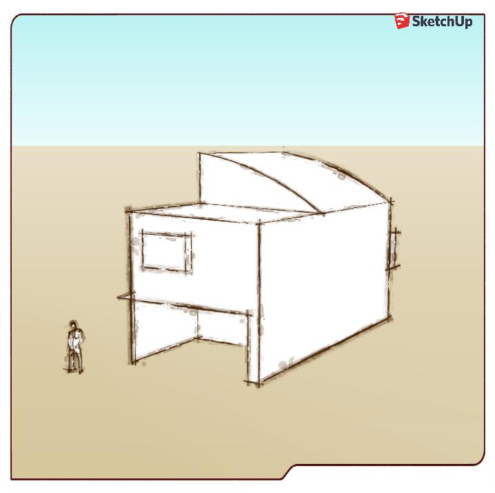 Sketchupで一級建築士自邸の製作