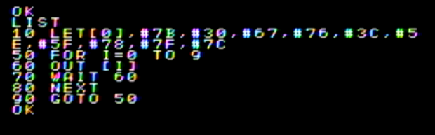 IchigoJamの7セグLEDタイマーで16進数を学ぼう!