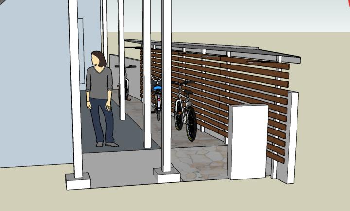 仙川賃貸アパート、ジェネス緑ヶ丘のエントランス工事計画